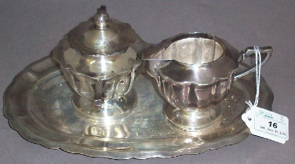 16: ***THREE PIECE MEXICAN STERLING SILVER SET