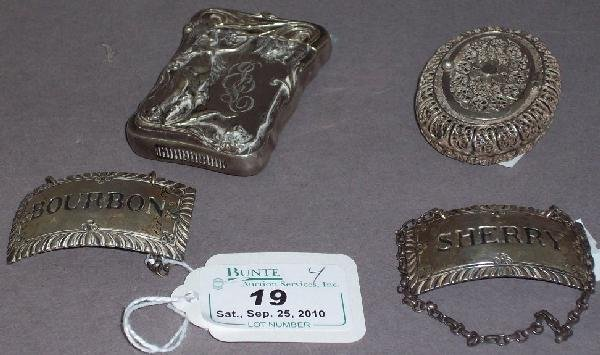 19: ***FOUR PIECES OF STERLING SILVER