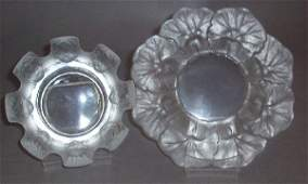 55 TWO PIECES OF LALIQUE CRYSTAL