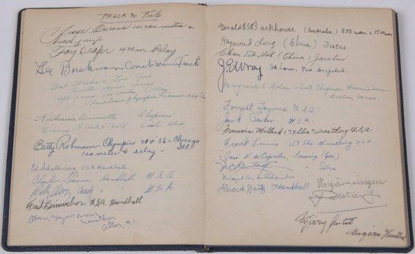 1016: ***1936 BERLIN OLYMPICS AUTOGRAPH BOOK