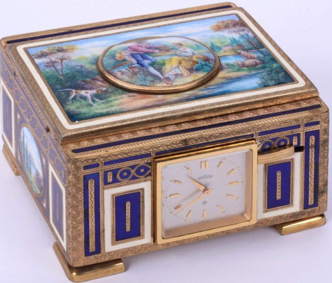 1201: ANGELUS CLOCK/MUSIC BOX
