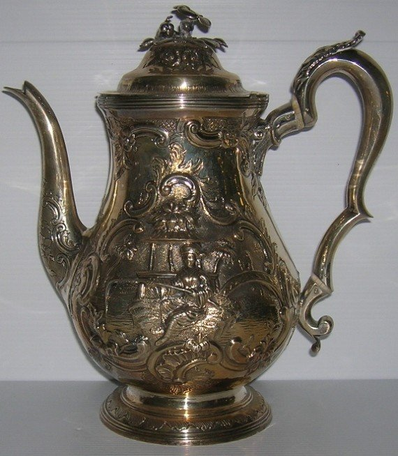 1011: ***GEORGE III ENGLISH STERLING SILVER COFFEE POT