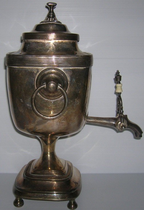 1012: ***NINETEENTH CENTURY ENGLISH SILVERPLATE TEA URN