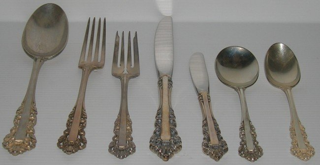 1014: ***SET OF GORHAM STERLING SILVER FLATWARE