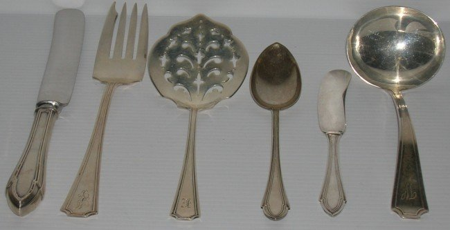 1020: ***FIFTY-FOUR PIECES OF STERLING SILVER FLATWARE
