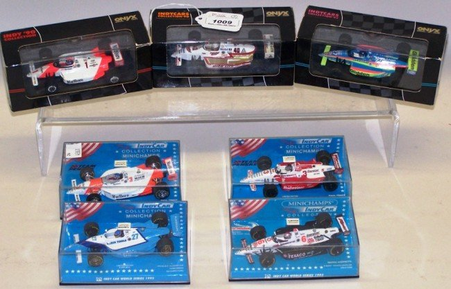 1009: ***GROUP OF SIX 1/43 DIE CAST INDY CARS