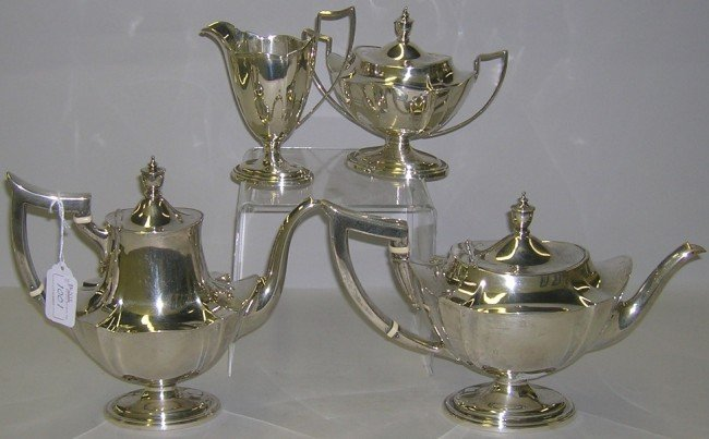 1001: ***GORHAM STERLING SILVER TEA AND COFFEE SERVICE