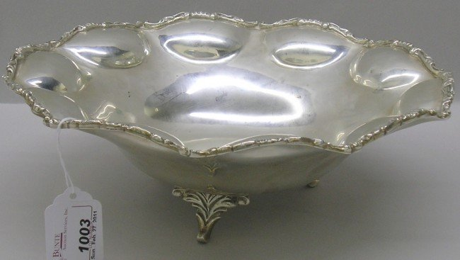 1003: ***MEXICAN STERLING SILVER FOOTED BOWL