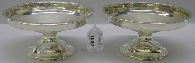 1008: ***PAIR OF WALLACE STERLING SILVER COMPOTES