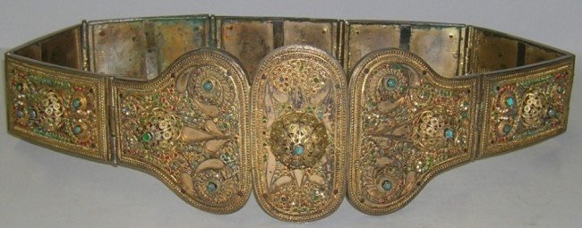 1010B: RUSSIAN GILT SILVER BELT