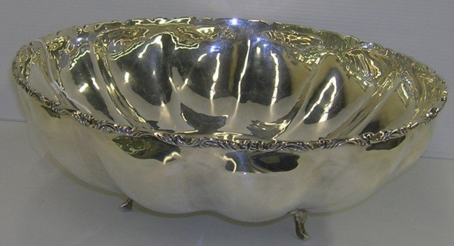 1001A: ***MEXICAN STERLING SILVER FOOTED BOWL