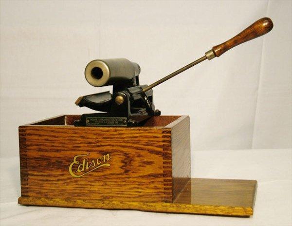 2054: EDISON HOME CYLINDER RECORD SHAVER  Use for shavi