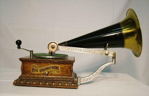 2058: COLUMBIA MODEL AJ DISC PHONOGRAPH| 78 RPM, Columb