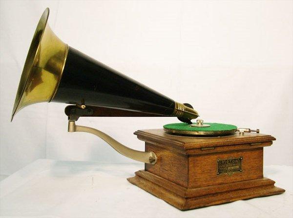 2059: VICTOR E ''PRE DOG'' DISC PHONOGRAPH| 78 RPM disc