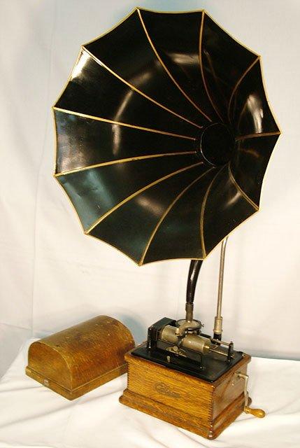 2060: EDISON FIRESIDE MODEL B CYLINDER PHONOGRAPH| Two
