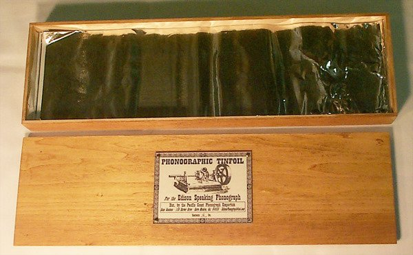 2179: BOX OF REPRODUCTION TIN FOIL| For the Edison Spea
