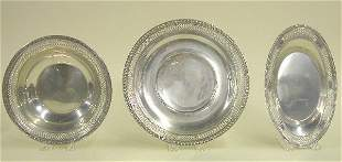 FIVE PIECES OF WATSON STERLING SILVER