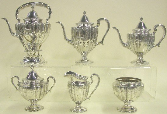 1008: FRANK M. WHITING STERLING SILVER TEA  A