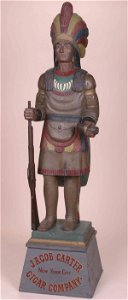 1501A: CIGAR STORE INDIAN CHIEF  Attributed t