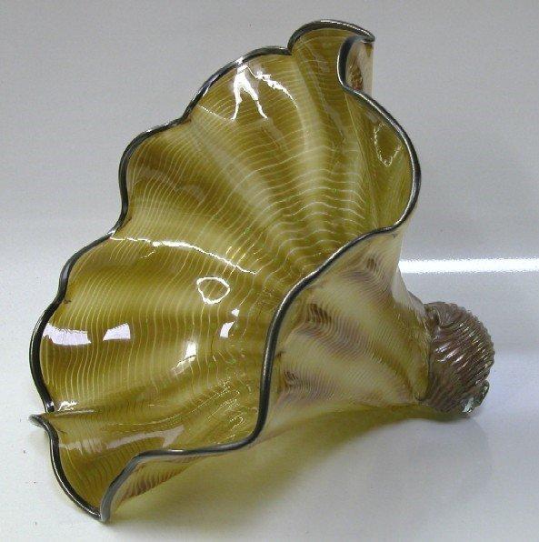 3003: KNIGHT, JOANNE| Art glass cornucopia sculpture, b