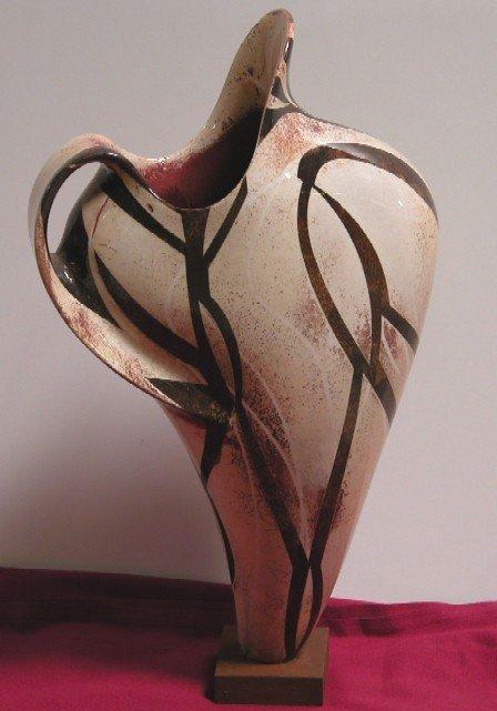 3021: TAMANIAM, PAUL Art pottery vase/sculpture, organ