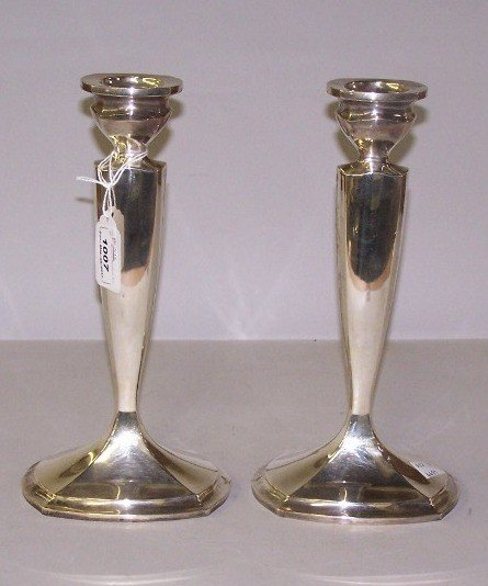 1007: ***PAIR OF INTERNATIONAL STERLING SILVER CANDLEST