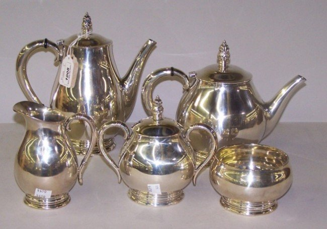 1008: ***FIVE PIECE STERLING SILVER TEA AND COFFEE SERV