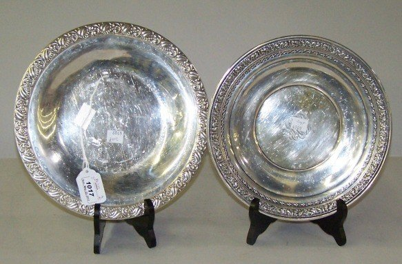1017: ***TWO STERLING SILVER DISHES