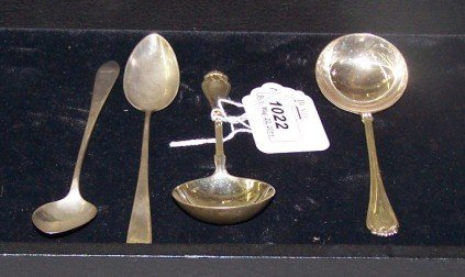 1022: ***TWO GROUPS OF STERLING SILVER