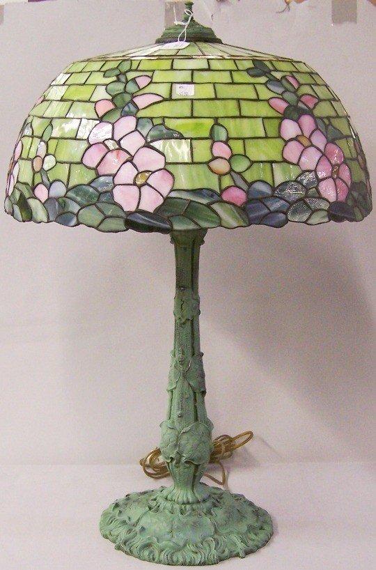 1195: ***WILKENSON LEADED GLASS TABLE LAMP