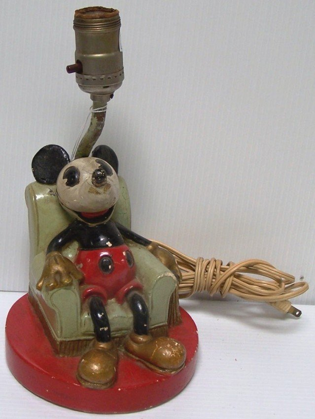 3001: ***CHALKWARE MICKEY MOUSE LAMP