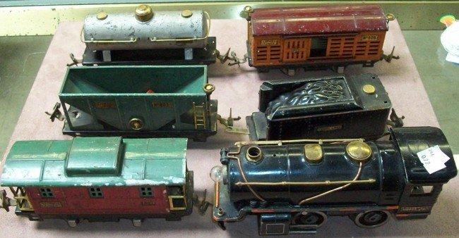 3009: LIONEL LOCOMOTIVE AND TRAIN CARS