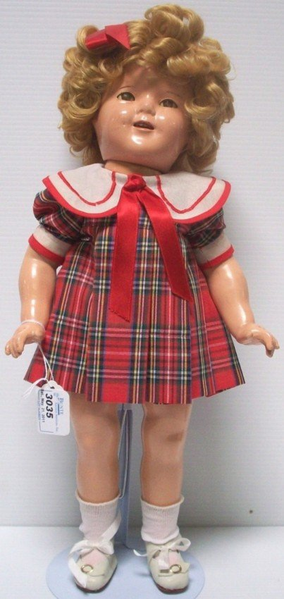 3035: ***COMPOSITION SHIRLEY TEMPLE DOLL
