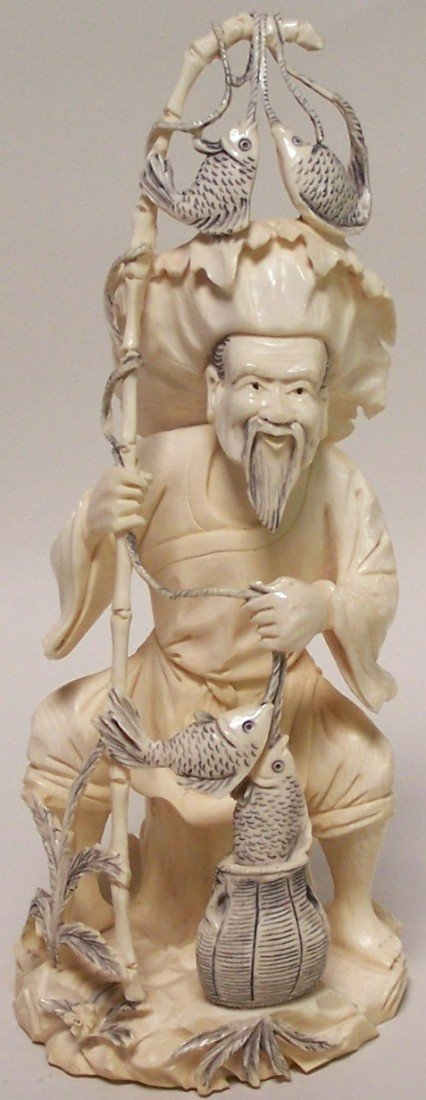 1009: ***CHINESE CARVED IVORY FIGURE