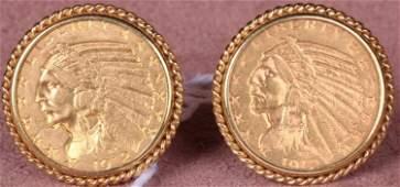 1315: ***PAIR OF GOLD CUFFLINKS