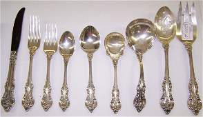 1200A: ***94 PC SET OF TOWLE STERLING SILVER FLATWARE