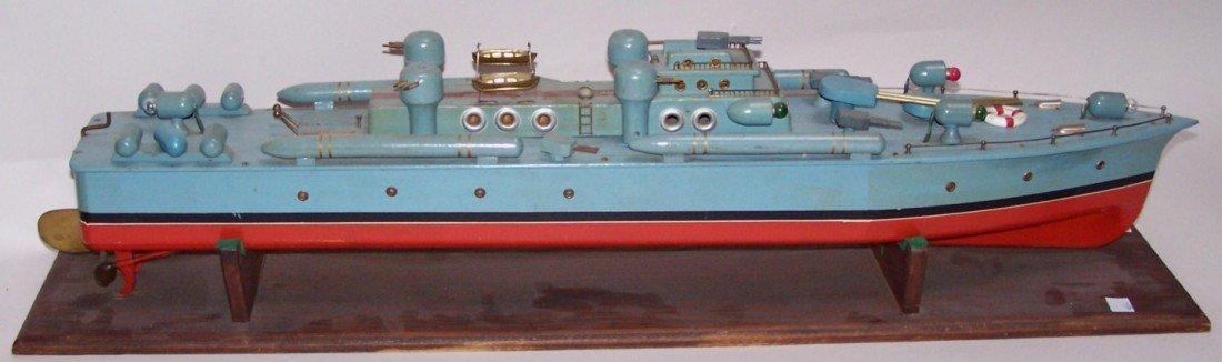 3072: ***1940'S ITO WOODEN MODEL PT BOAT - 3