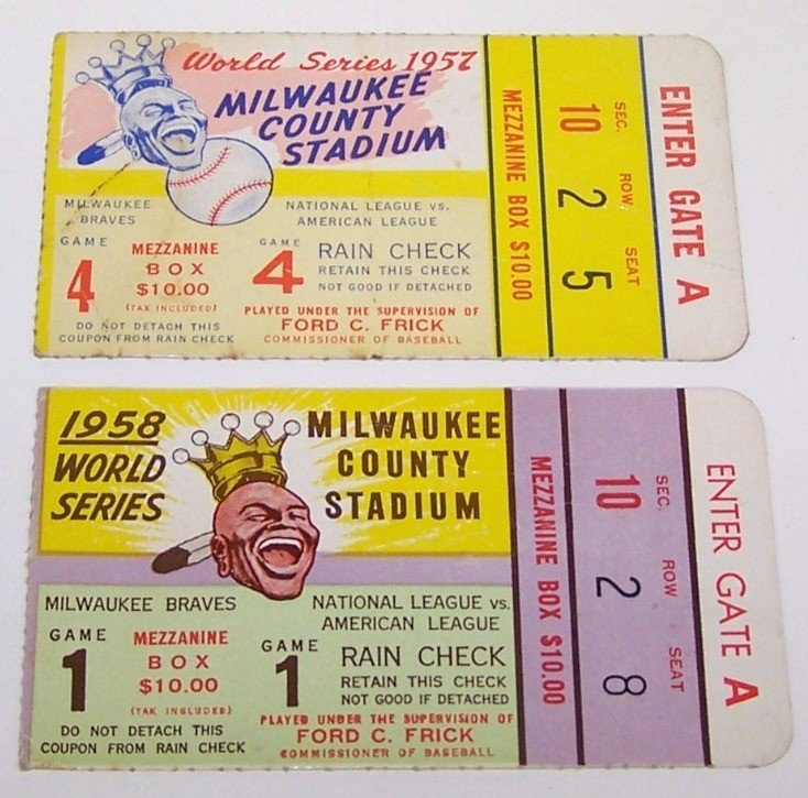 2205A: TWO WORLD SERIES TICKET STUBS