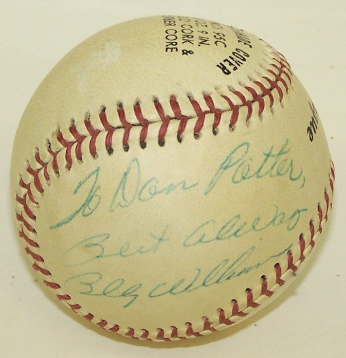 2216: BILLY WILLIAMS AUTOGRAPHED BASEBALL