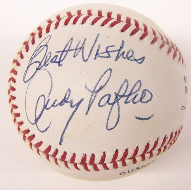 2220: ***ANDY PAFKO AUTOGRAPHED BASEBALL