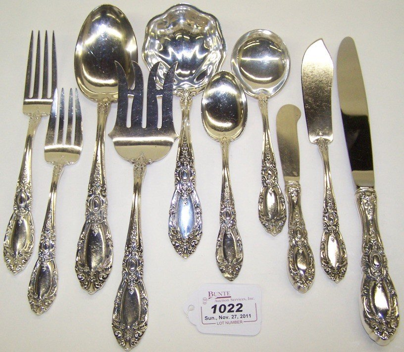 1022: ***63 PIECE SET OF STERLING SILVER FLATWARE