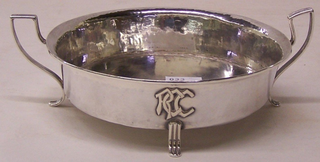 1007: LEBOLT STERLING SILVER TWO-HANDLED FOOTED BOWL| M