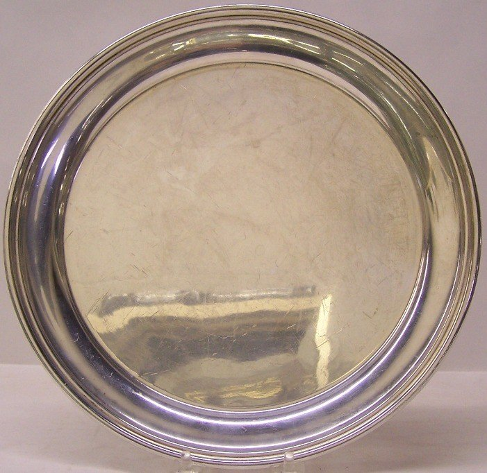 """1009: AMERICAN STERLING SILVER CIRCULAR TRAY