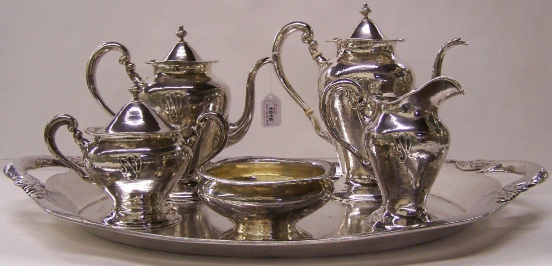 1016: LEBOLT SIX PIECE STERLING SILVER TEA AND COFFEE S