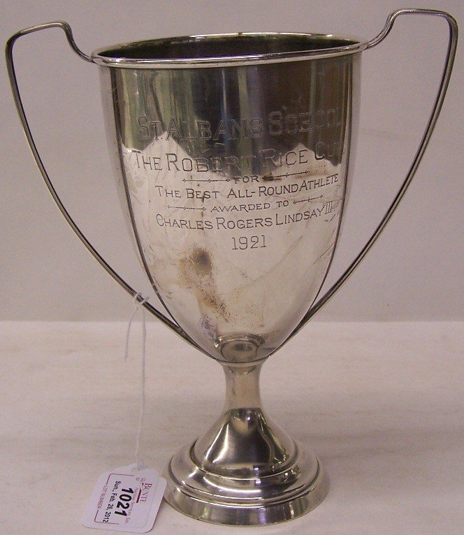 """1021: ***AMERICAN STERLING SILVER TROPHY CUP
