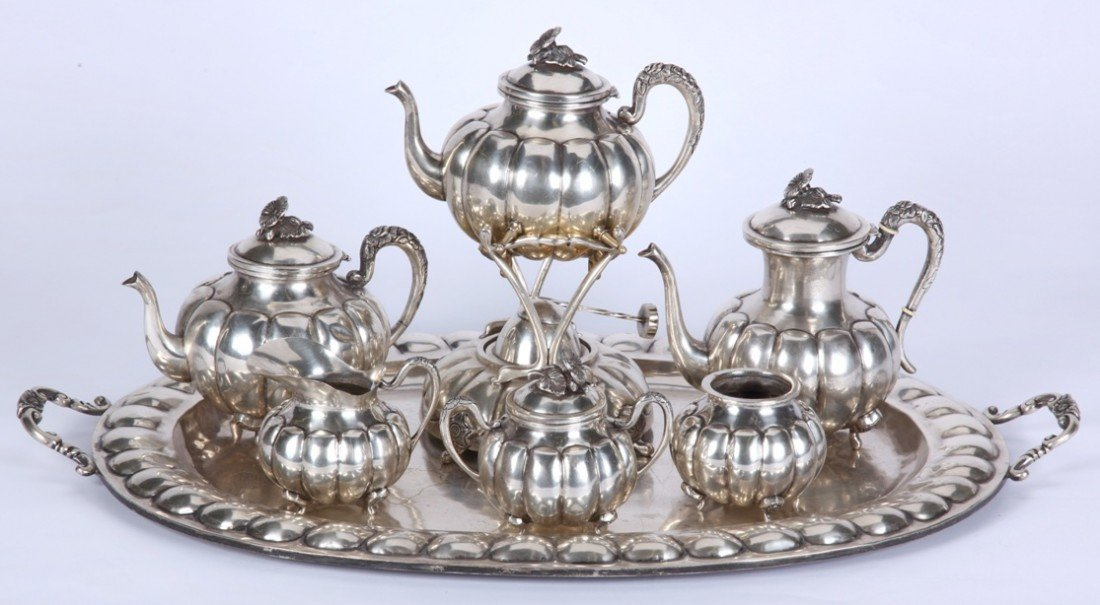 1017: ***FEISA MEXICAN STERLING SILVER TEA AND COFFEE S