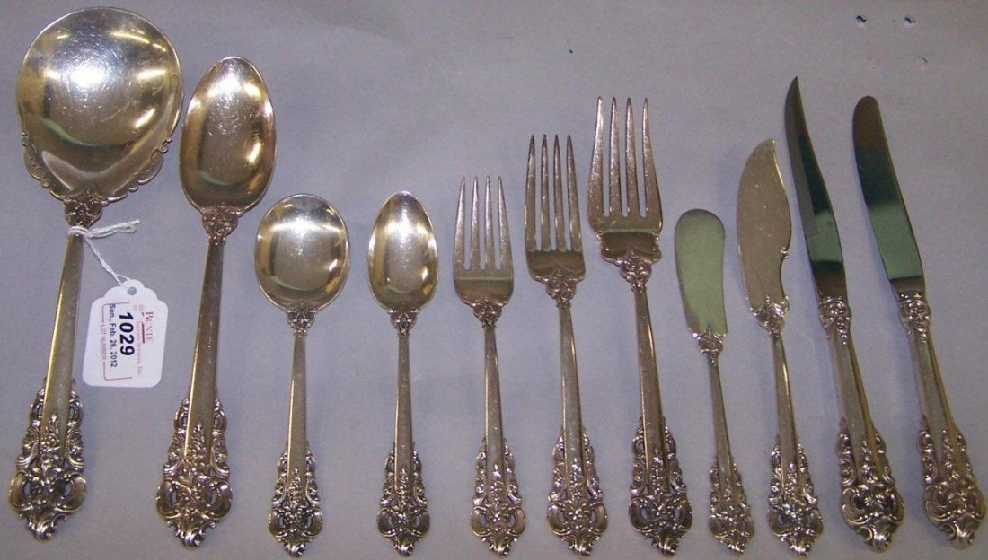 1029: ***PARTIAL SET OF WALLACE STERLING SILVER FLATWAR