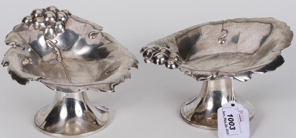 1003: ***PAIR OF AMERICAN STERLING SILVER COMPOTES