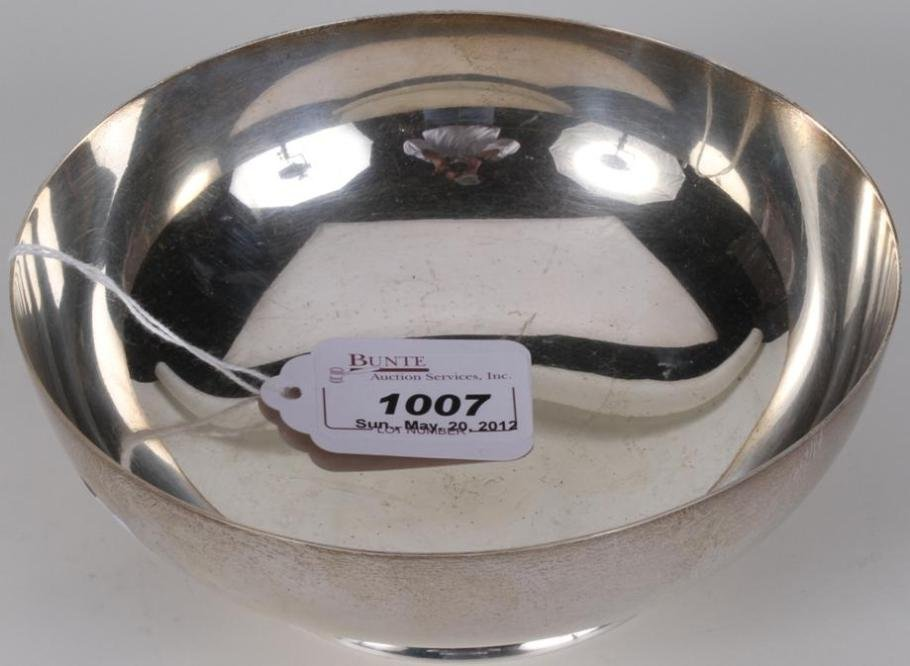 1007: ***TIFFANY & CO. STERLING SILVER FOOTED BOWL