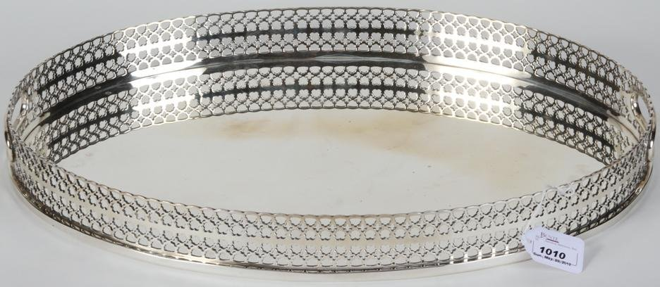 1010: ***TIFFANY & CO. STERLING SILVER OVAL TRAY